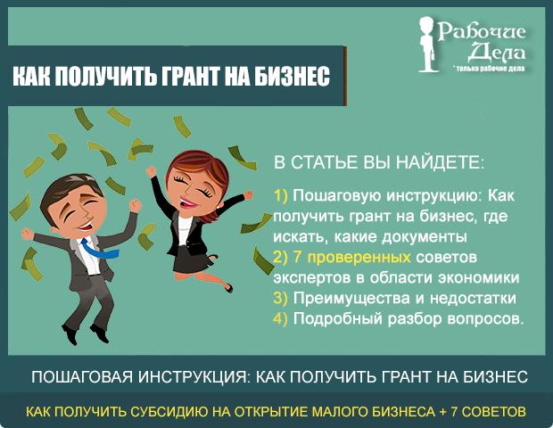 Как получить субсидию на открытие малого бизнеса