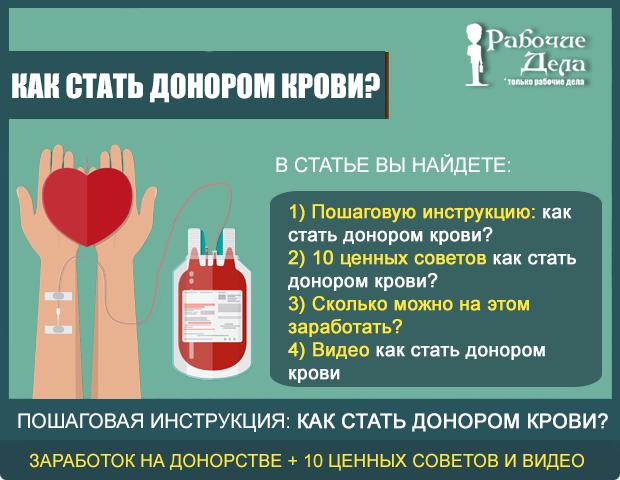 Как стать донором крови
